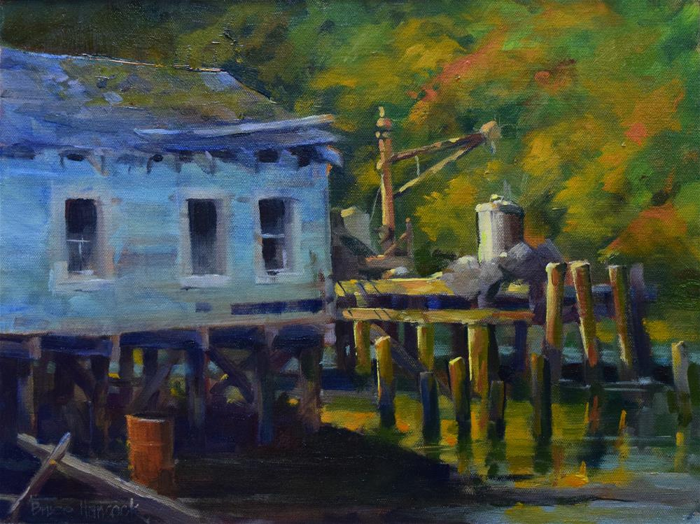 """Morning Light in Noyo Harbor"" original fine art by Bruce Hancock"