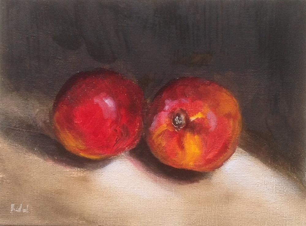 """Nectarines "" original fine art by Heidi Shedlock"