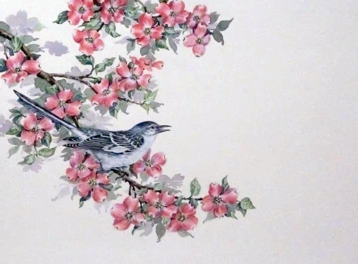 """Mockingbird"" original fine art by Jean Pierre DeBernay"