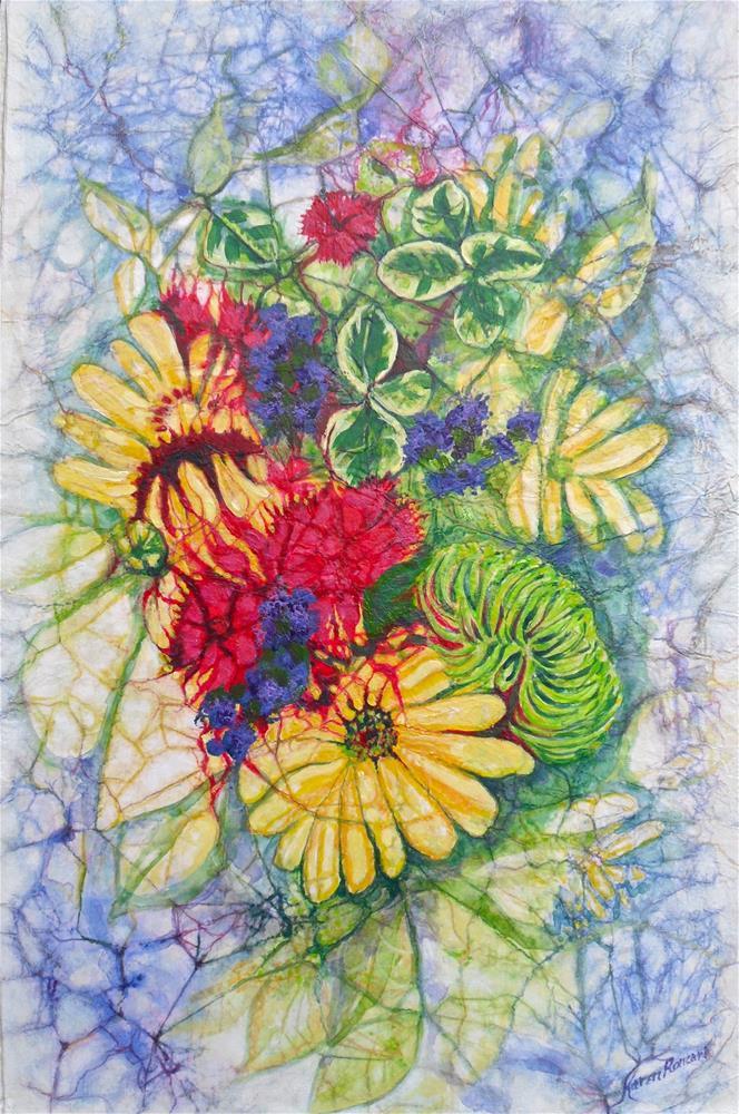 """""""Petal Fusion"""" original fine art by Karen Roncari"""