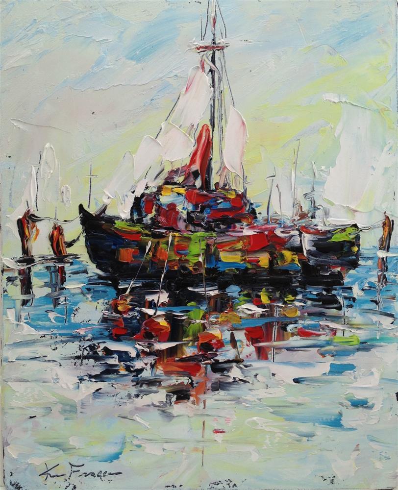 """""""Mooring"""" original fine art by Ken Fraser"""