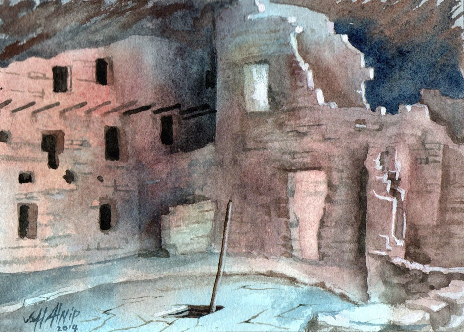"""Mesa Verde Dwellings"" original fine art by Jeff Atnip"