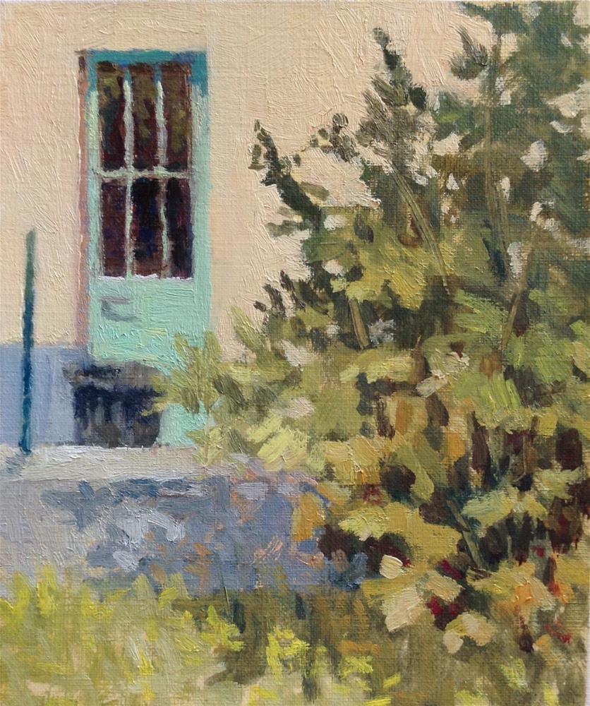 """Backyard"" original fine art by Christine Bayle"