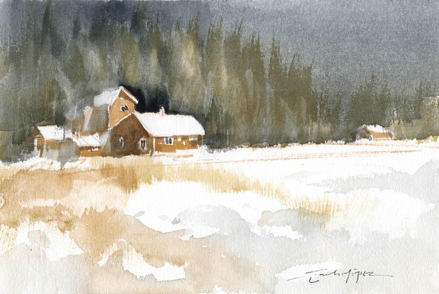 """""""Snowy 10"""" original fine art by Emilio López"""