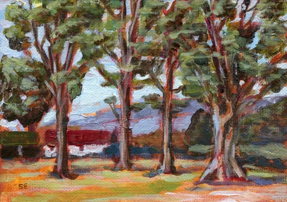 """Through The Trees"" original fine art by Stanley Epperson"