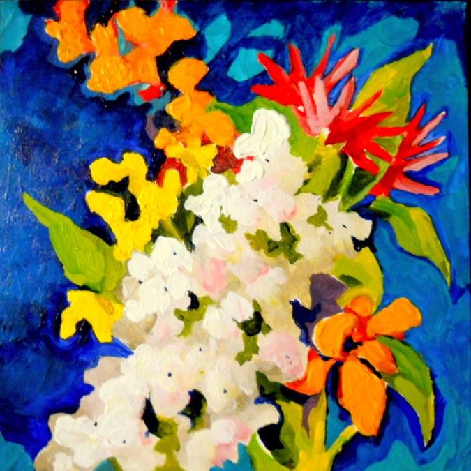 """Bouquet"" original fine art by Laurie Mueller"