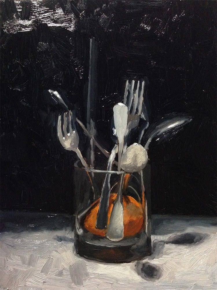 """""""Cutlery"""" original fine art by Chris Beaven"""