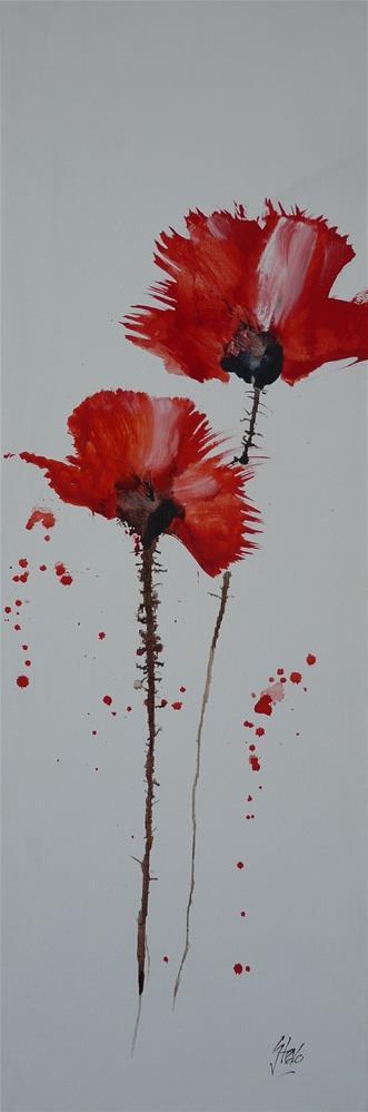 """Poppies II"" original fine art by Martin Stephenson"