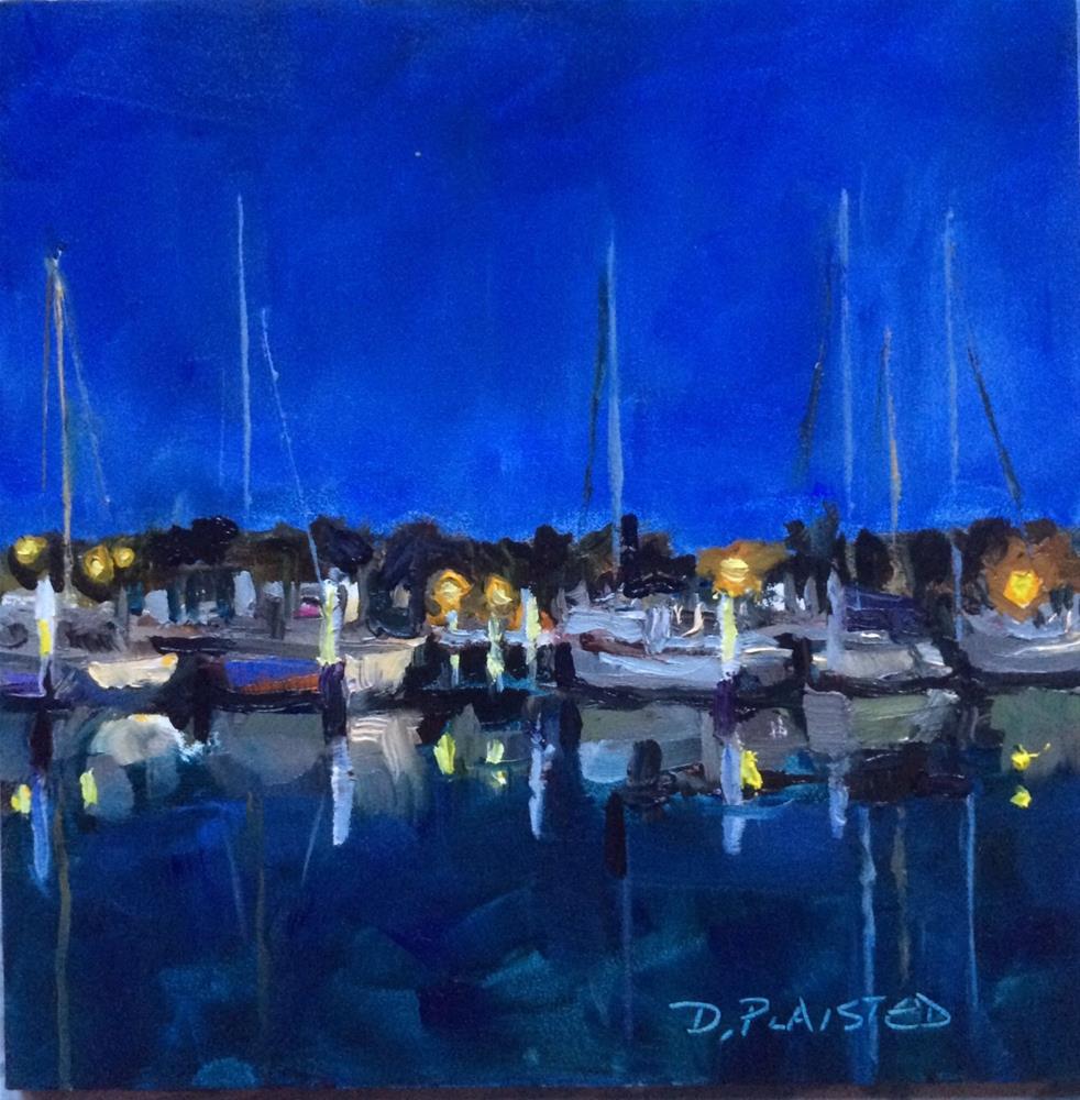 """Marina Evening Punta Gorda"" original fine art by Diane Plaisted"
