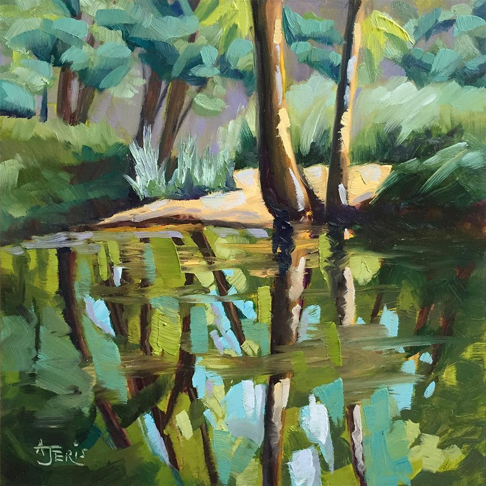 """Tree Reflections"" original fine art by Andrea Jeris"