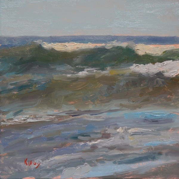 """The Rough Sea"" original fine art by Randall Cogburn"