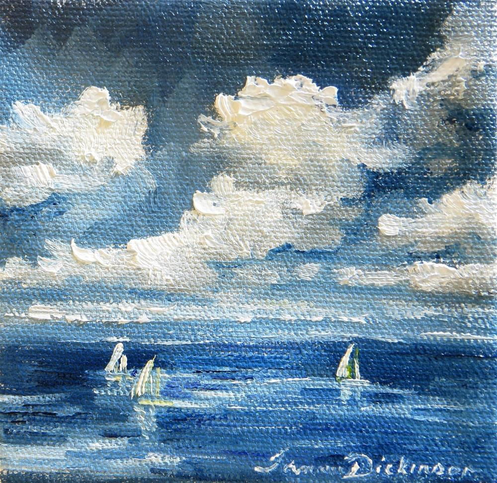 """Sailboats on Blue Water"" original fine art by Tammie Dickerson"
