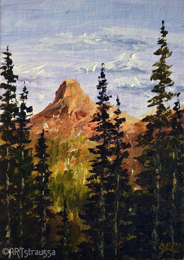"""Forest Peak"" original fine art by Gloria Ester"