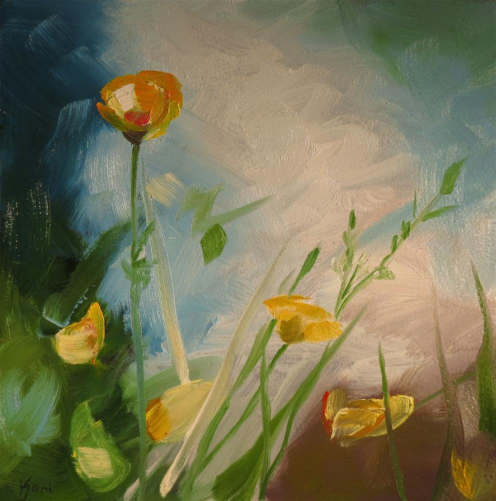 """Buttercups"" original fine art by Kari Melen"