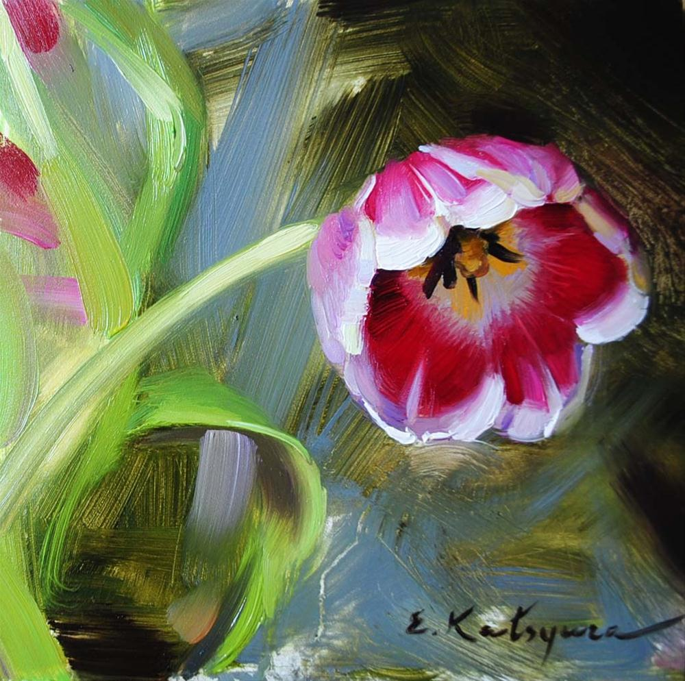 """Tulip Sketch"" original fine art by Elena Katsyura"