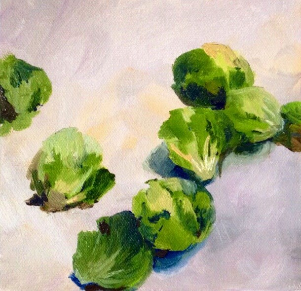 """Brussel Sprouts"" original fine art by Cathy Boyd"