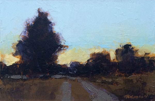 """Evening Road"" original fine art by Mary Gilkerson"