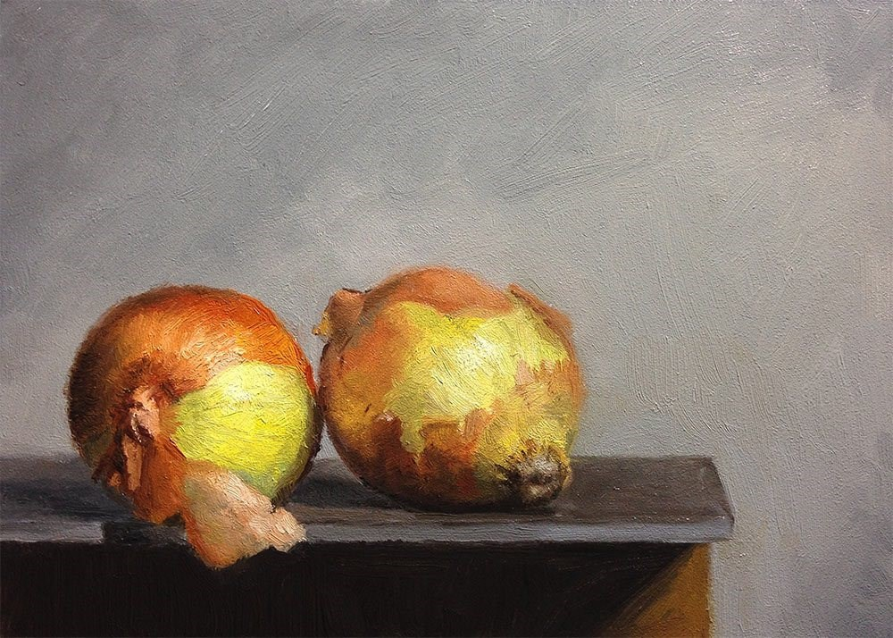 """Two Onions"" original fine art by Chris Beaven"