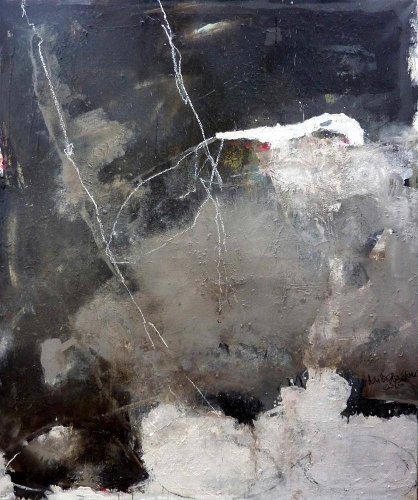 """""""Abstrakte Komposition"""" original fine art by Mila Plaickner"""