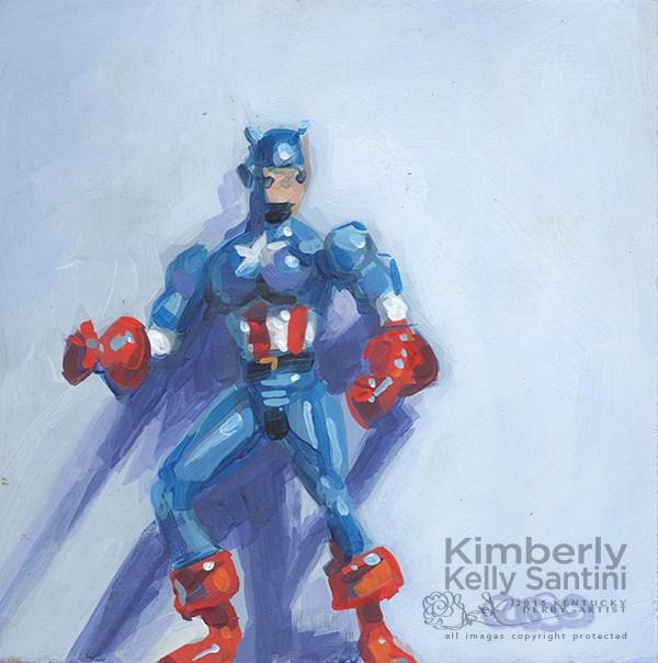 """Captain America"" original fine art by Kimberly Santini"