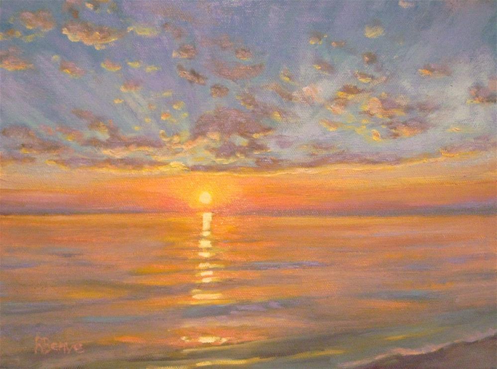 """""""Sunny Waves"""" original fine art by Robie Benve"""