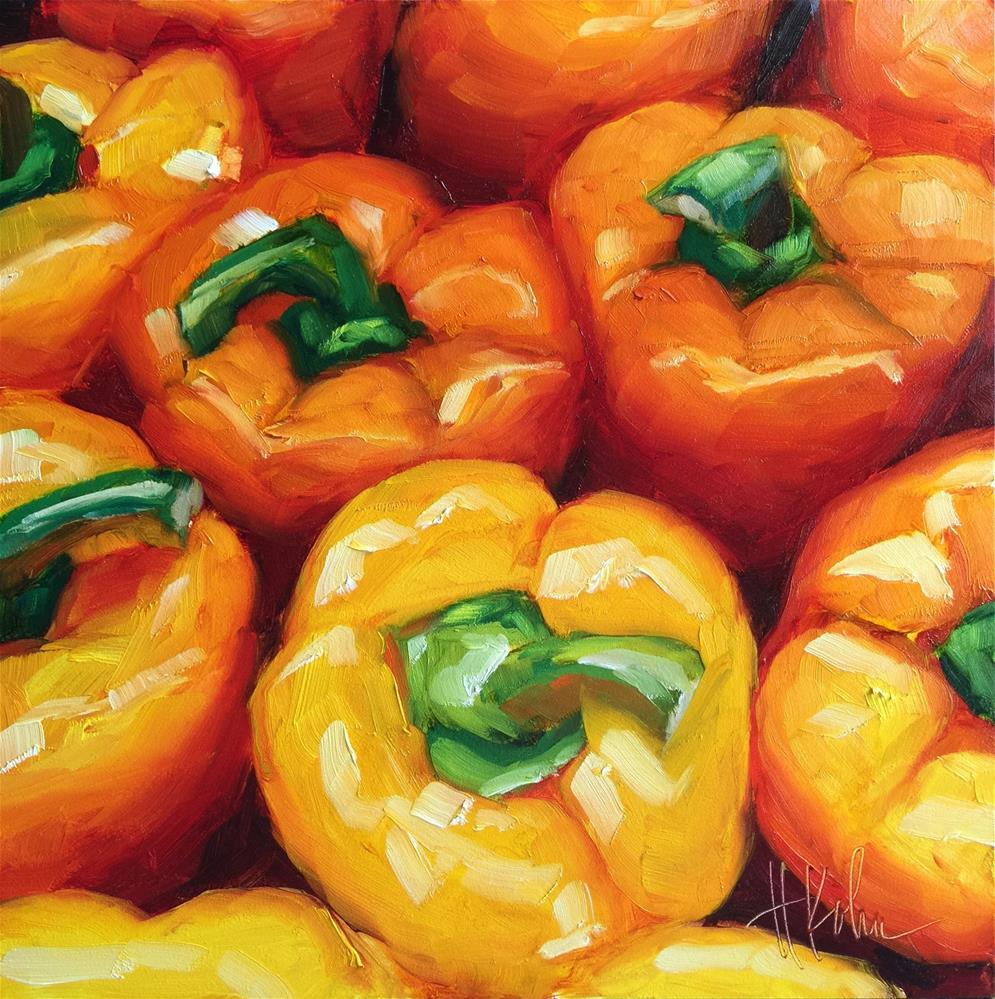 """Peppers"" original fine art by Hallie Kohn"