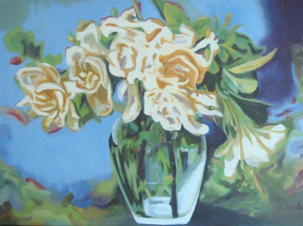 """Gardenia Passion"" original fine art by Susan Duda"