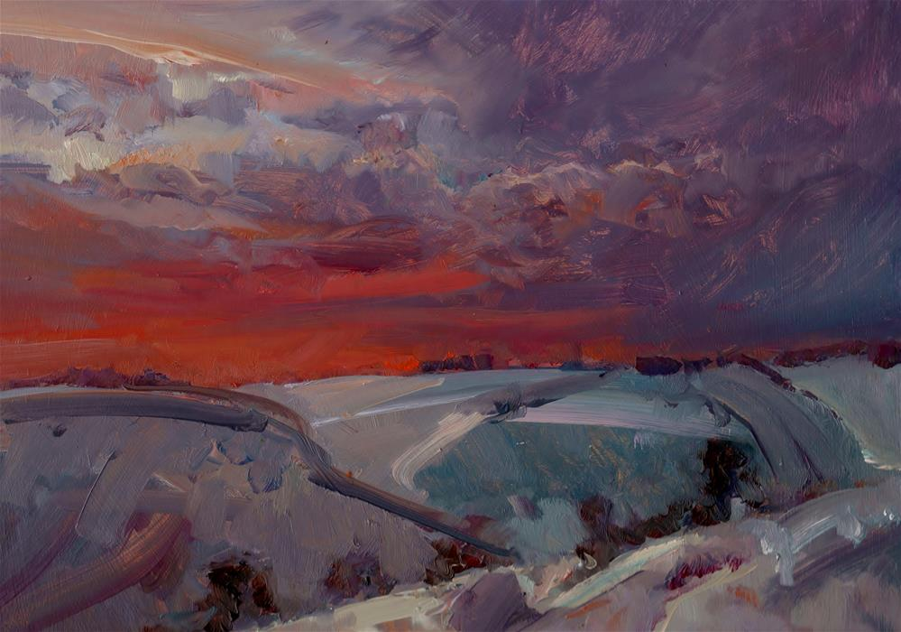 """Lincolnshire Winter"" original fine art by Anne Wood"