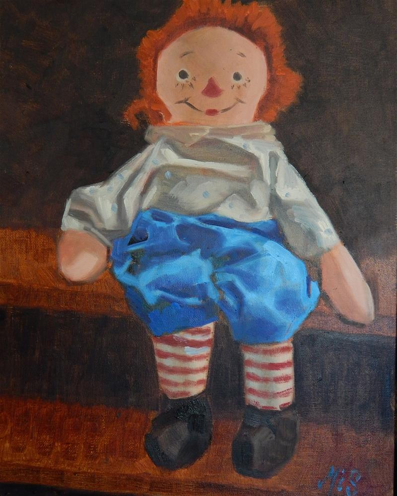 """Raggedy Andy"" original fine art by Megan Schembre"