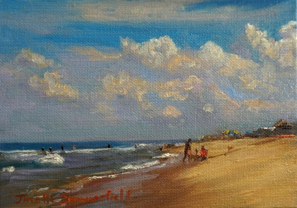 """Sandbridge Beach"" original fine art by Jonelle Summerfield"