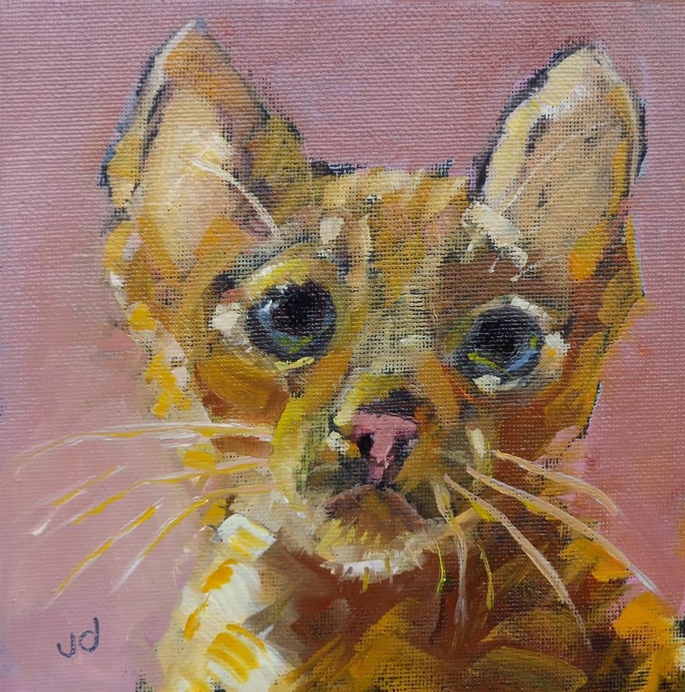 """Big eyes"" original fine art by Jean Delaney"