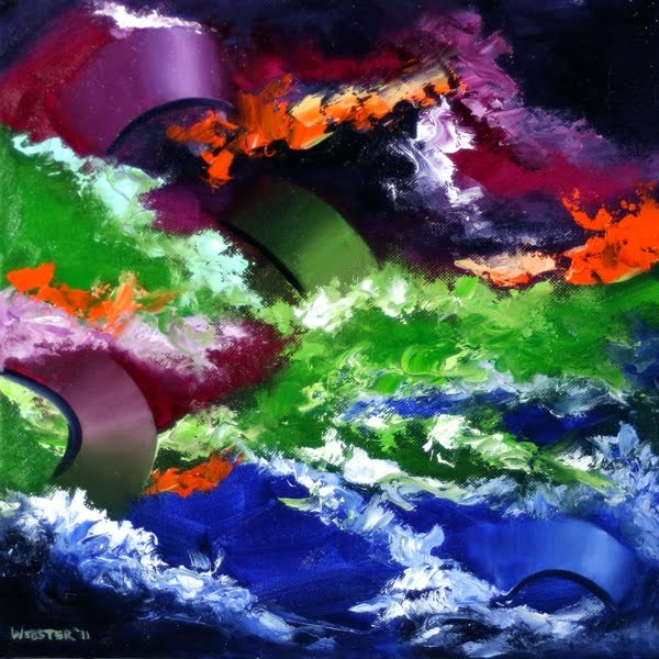"""""""Mark Webster - Abstraction 4 - Abstract Oil Painting"""" original fine art by Mark Webster"""