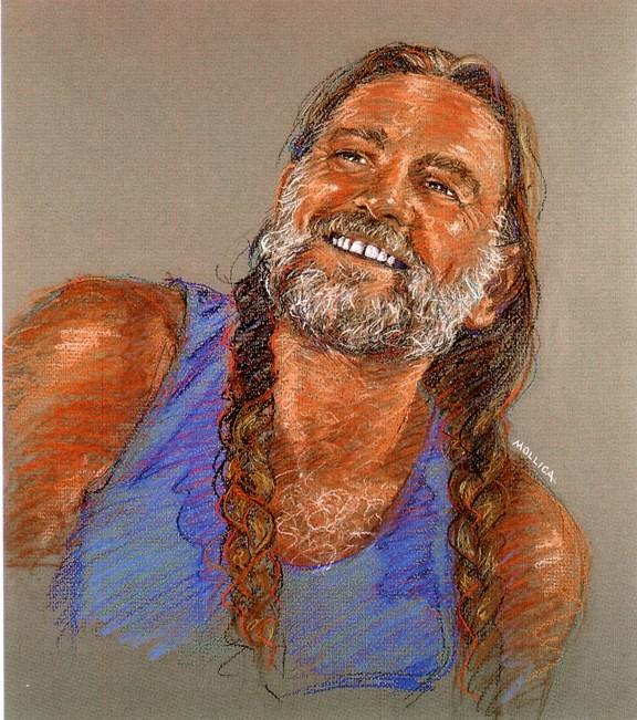 """""""Willie"""" original fine art by Patti Mollica"""