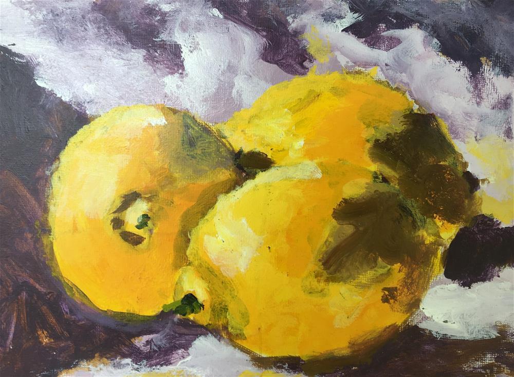 """Lemons, Demo 5"" original fine art by Susan Elizabeth Jones"