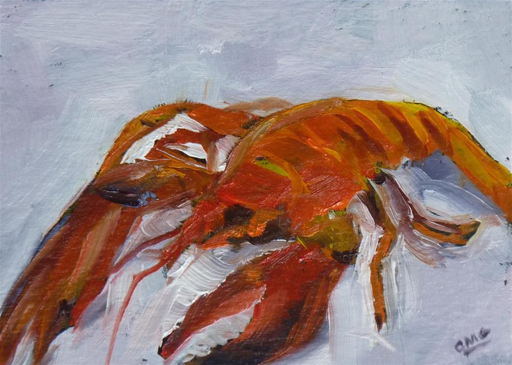 """Scott's Lobster"" original fine art by Cindy Greene"
