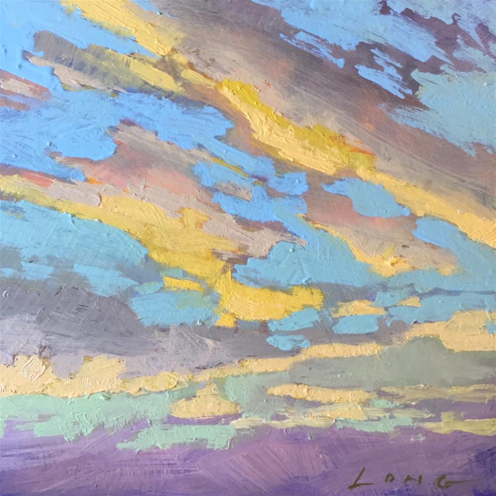 """Cloud Composition #6"" original fine art by Chris Long"