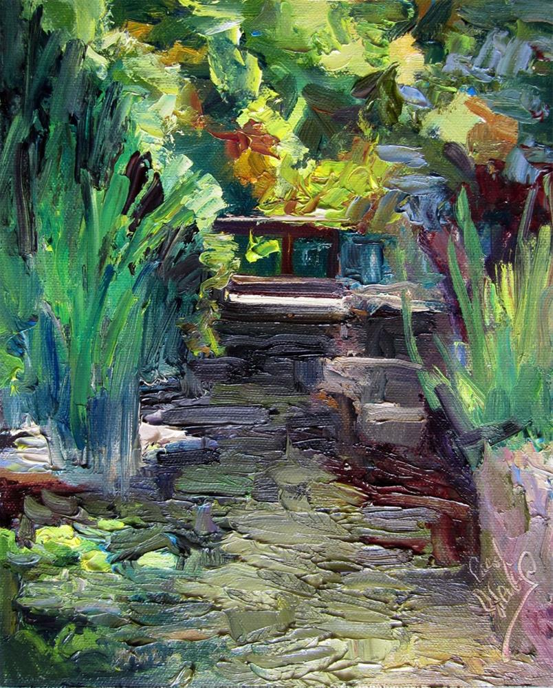 """Waterfall at Museum of Natural History"" original fine art by Carol Steinberg"