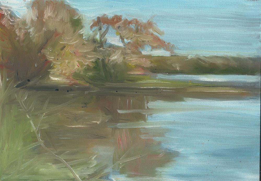 """The Swamp River (5 x 7 Oil on pastelboard - no frame)"" original fine art by Ramon DelRosario"