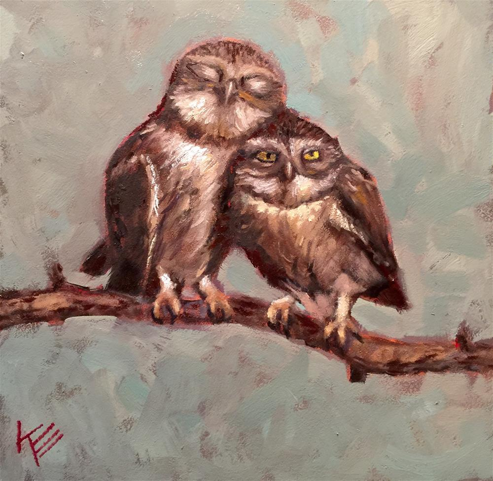 """Owl you need is Love"" original fine art by Krista Eaton"