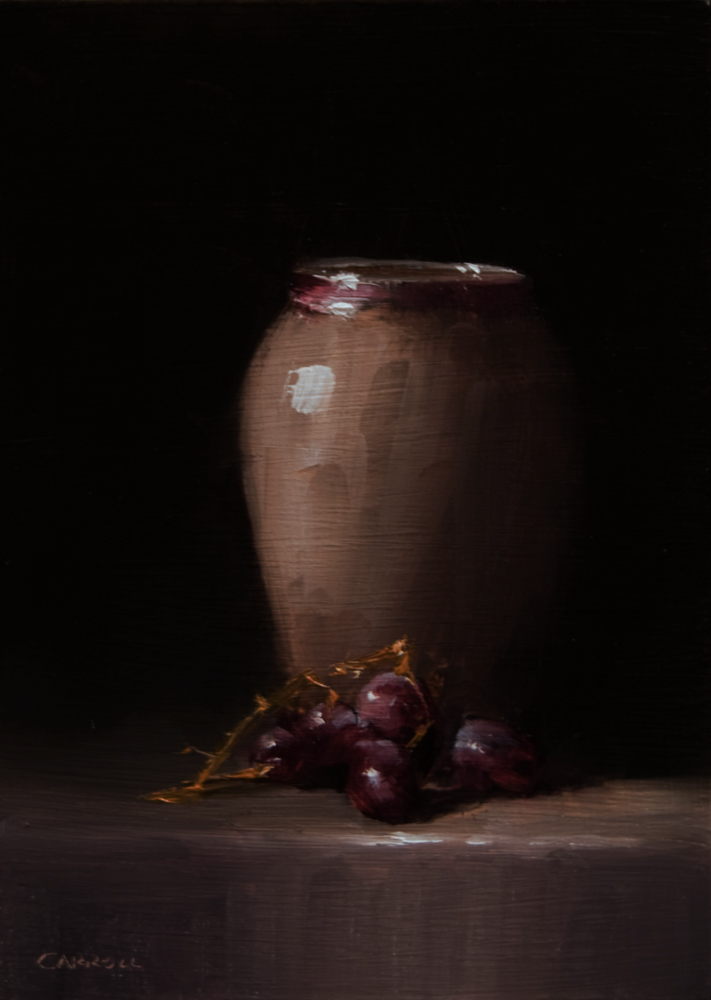 """""""Vase with Grapes"""" original fine art by Neil Carroll"""
