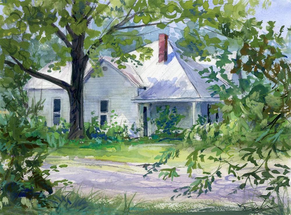 """A. J. Green House in Nolensville TN"" original fine art by Chris Ousley"