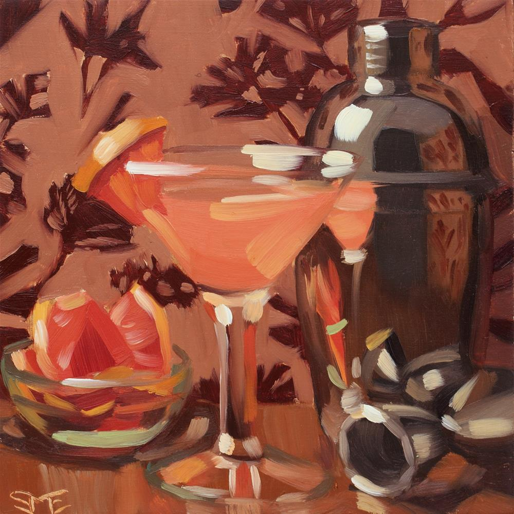 """Peach Pegu 2"" original fine art by Sheila Evans"