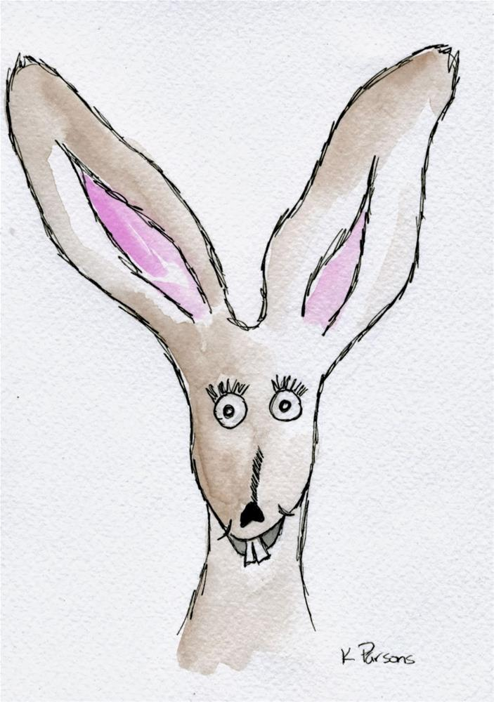 """I'm all Ears"" original fine art by Kali Parsons"