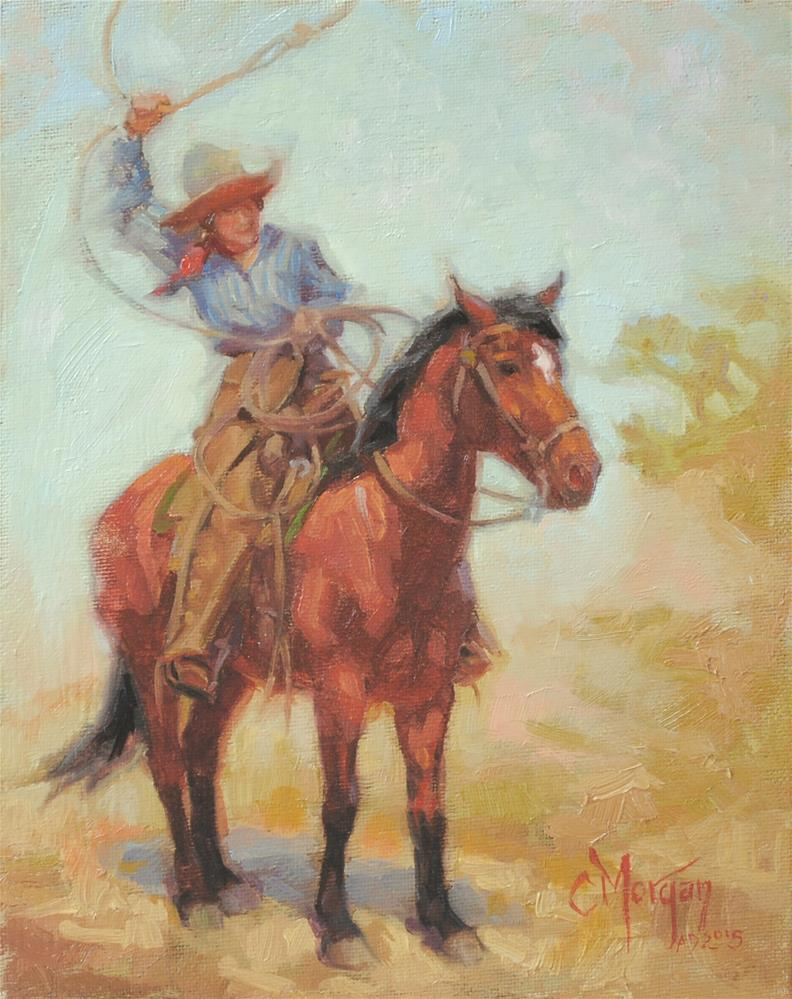 """Cowgirl Memories #3"" original fine art by Cecile W. Morgan"
