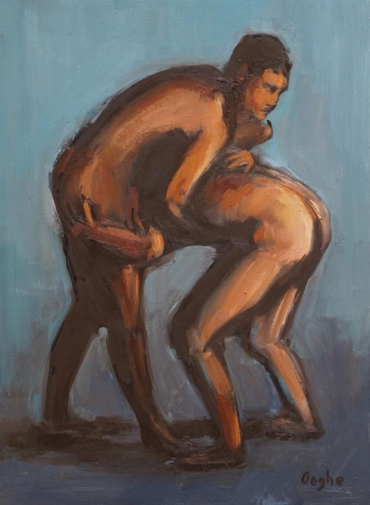 """Nude Male Figures"" original fine art by Angela Ooghe"