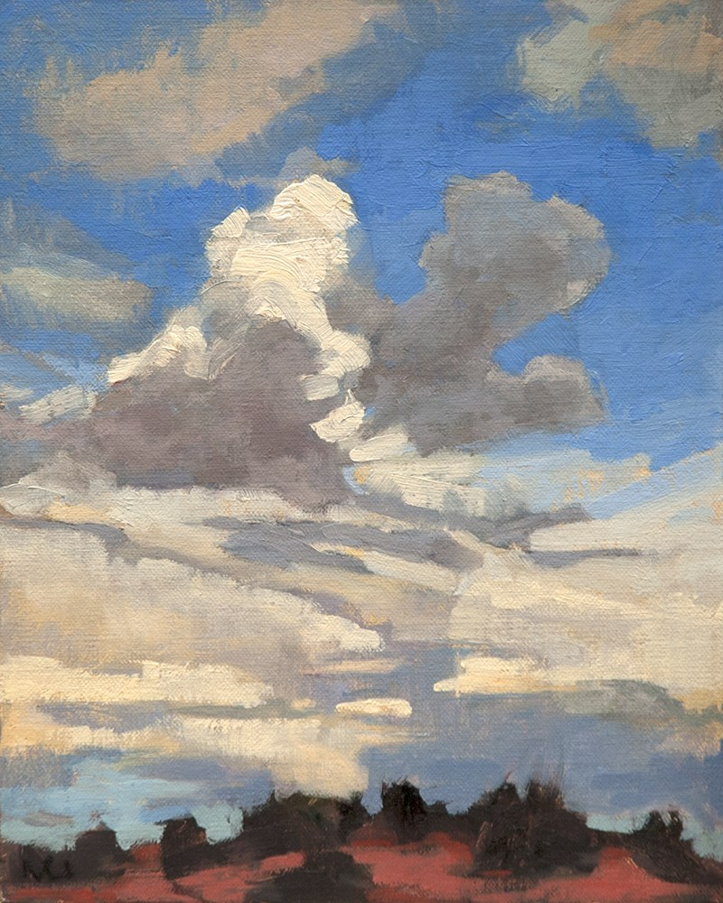 """New Mexico Clouds"" original fine art by Miriam Hill"