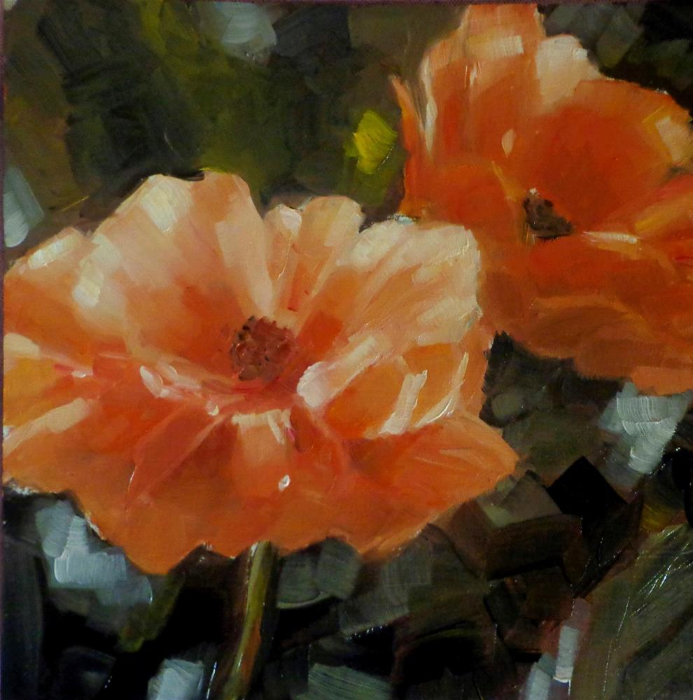 """Flowers"" original fine art by Maria Z."