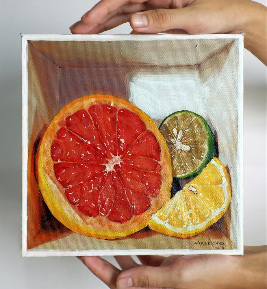 """Citrus Medley in a box II"" original fine art by Haze Long"