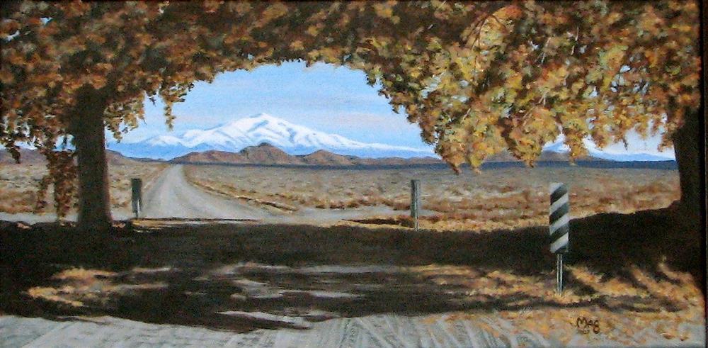 """""""East Walker Road"""" original fine art by John F McGowan"""