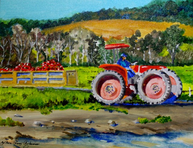 """Big Wheel"" original fine art by JoAnne Perez Robinson"